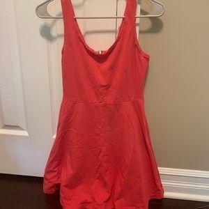 Coral pink sun dress